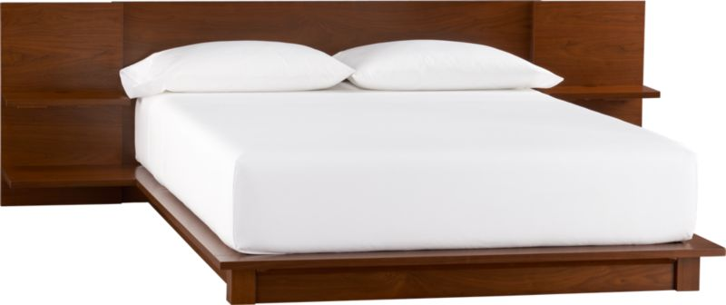 andes walnut queen bed