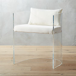 antonio acrylic chair with pillow