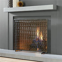 arch fireplace screen
