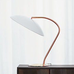 atomic copper table lamp