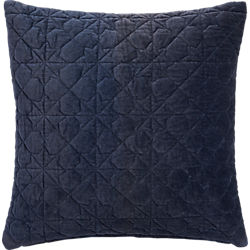 "august quilted navy 16"" pillow"