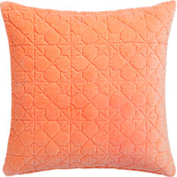 "august quilted peach 16"" pillow"