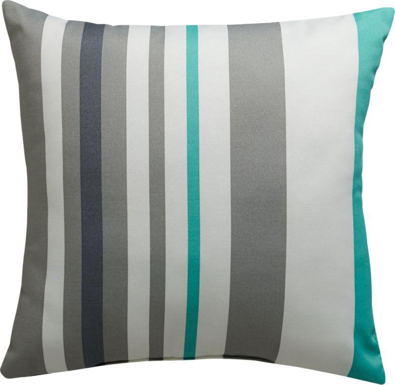 "augustan stripe 20"" outdoor pillow"