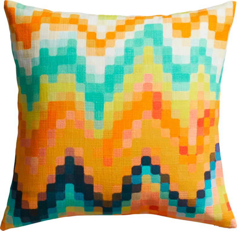 "aura 20"" pillow with down-alternative insert"