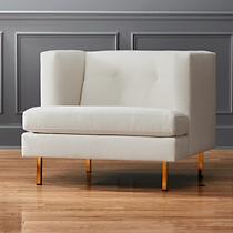 avec chair with brass legs