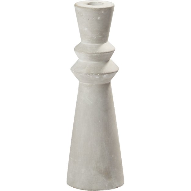 avenue cement taper candle holder