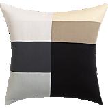 "b/w panels 20"" pillow"