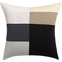 "b/w panels 20"" pillow"