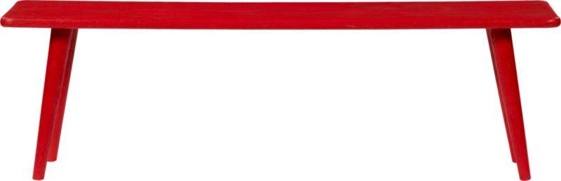 baja red bench