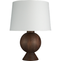 balance wood table lamp