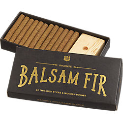 balsam fir incense gift set