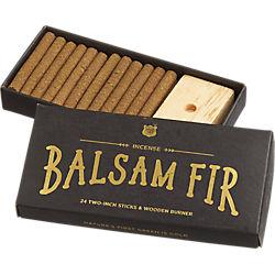 balsam fir incense gift set