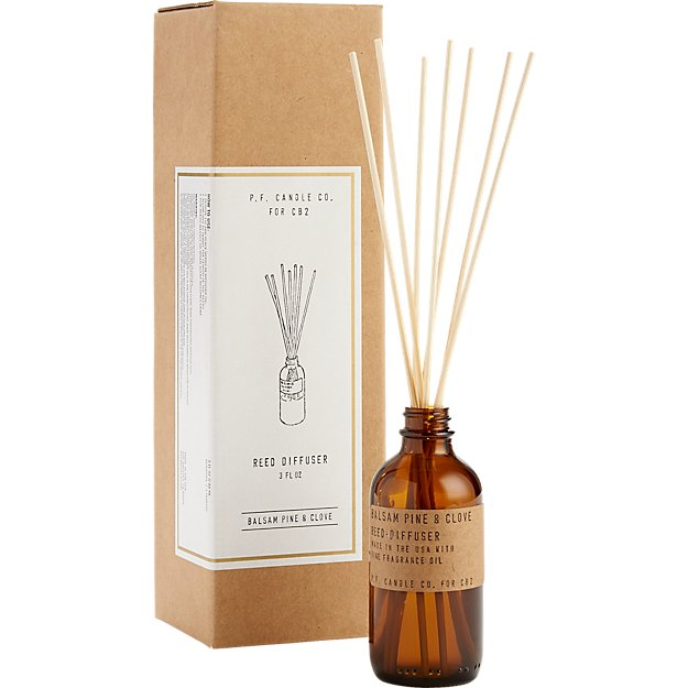balsam pine and clove reed diffuser