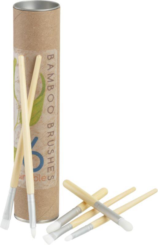 6-piece bamboo paint brush set