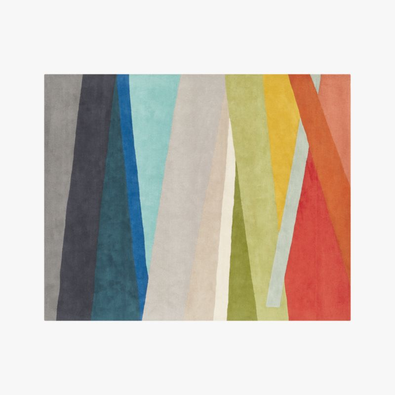 Banded Color Stripe Rug 8 X10 Cb2