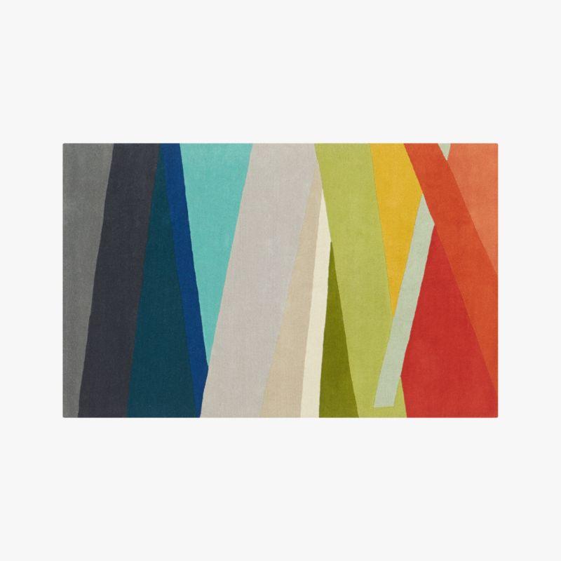 banded color stripe rug 5'x8'