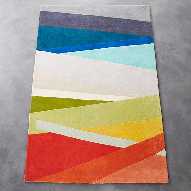 banded color stripe rug