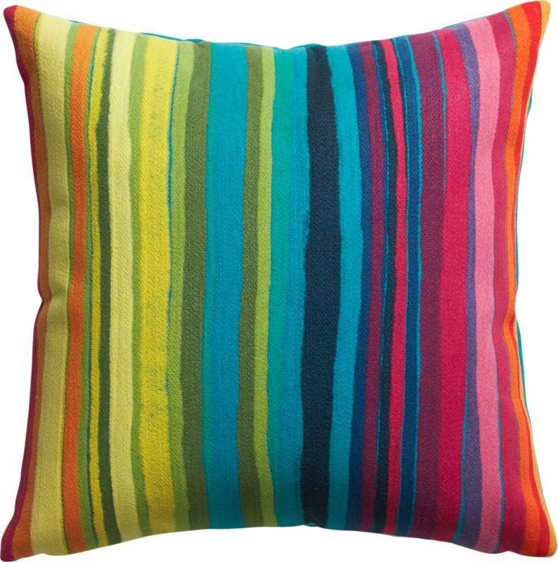 "bander multi-stripe 20"" outdoor pillow"