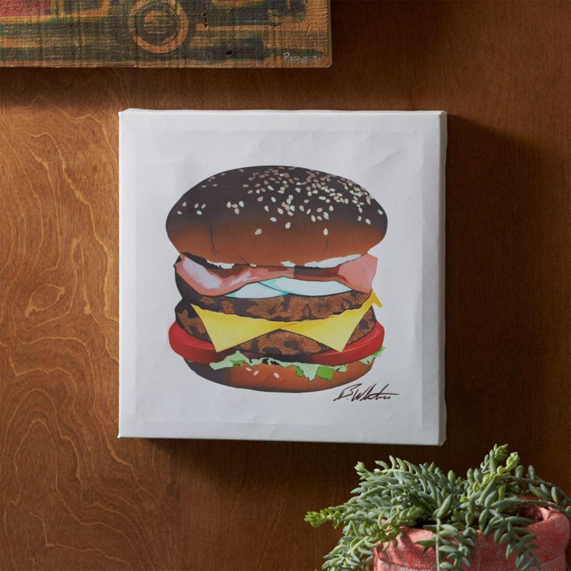 barcelona burger print