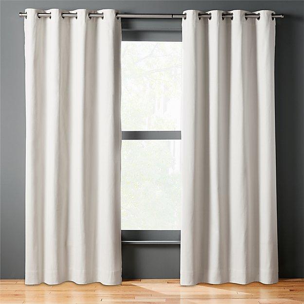 basketweave natural curtain panel