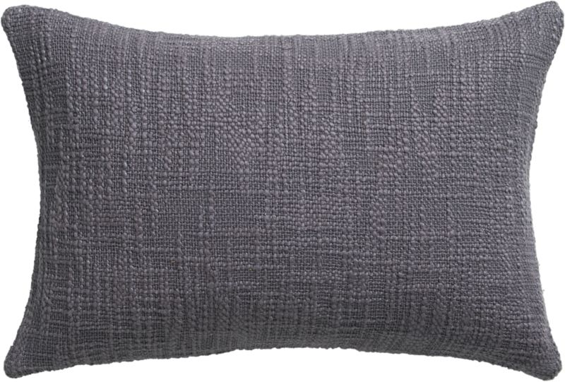 "basis grey 18""x12"" pillow with down-alternative insert"