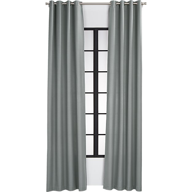 basketweave graphite curtain panel