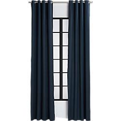 basketweave navy curtain panel