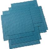 set of 8 basketweave blue-green placemats