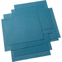 basketweave blue-green placemats set of eight