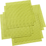 set of 8 basketweave green placemats