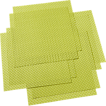 basketweave green placemats set of eight