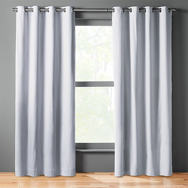 basketweave silver grey curtain panel