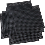 set of 8 basketweave carbon placemats