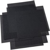 basketweave carbon placemats set of eight