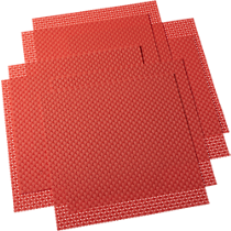 basketweave hot orange placemats set of eight