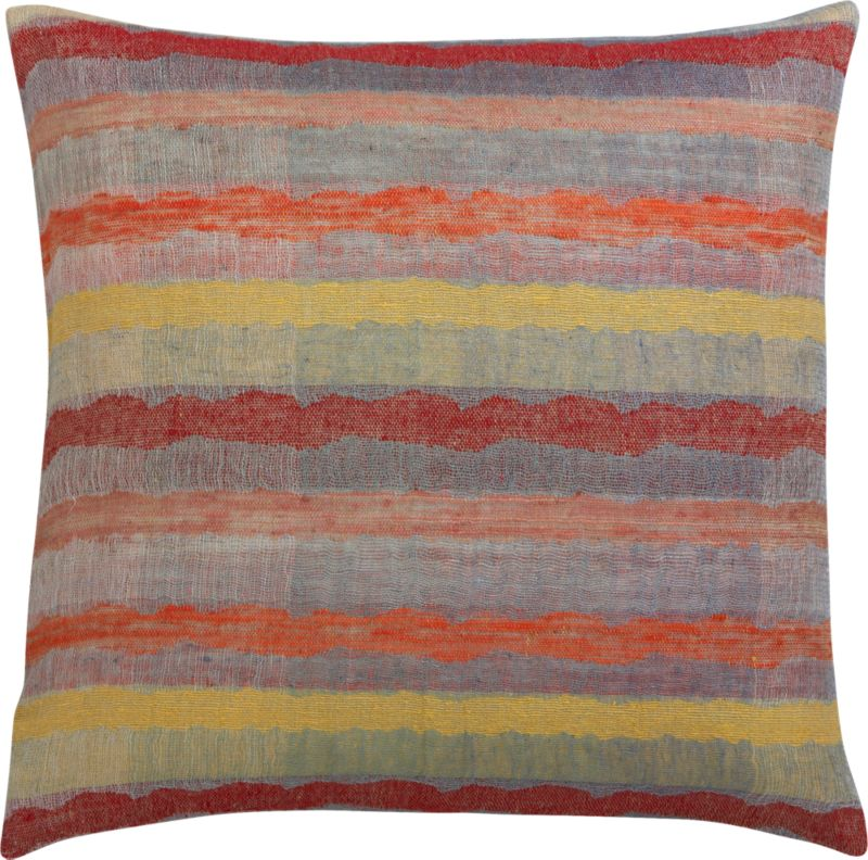 """batten 23"""" pillow with feather-down insert"""