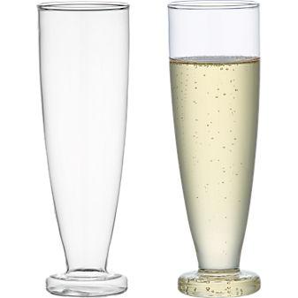 beaker glass flute in stemware | CB2