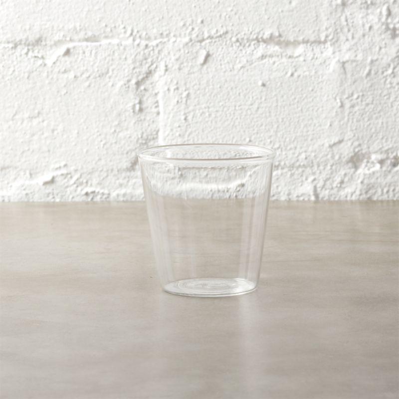 beaker glass tea light candle holder