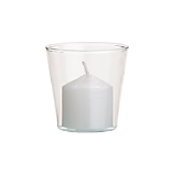 beaker glass tea light candle holder