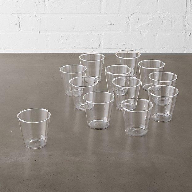 set of 12 beaker glass tea light candle holders