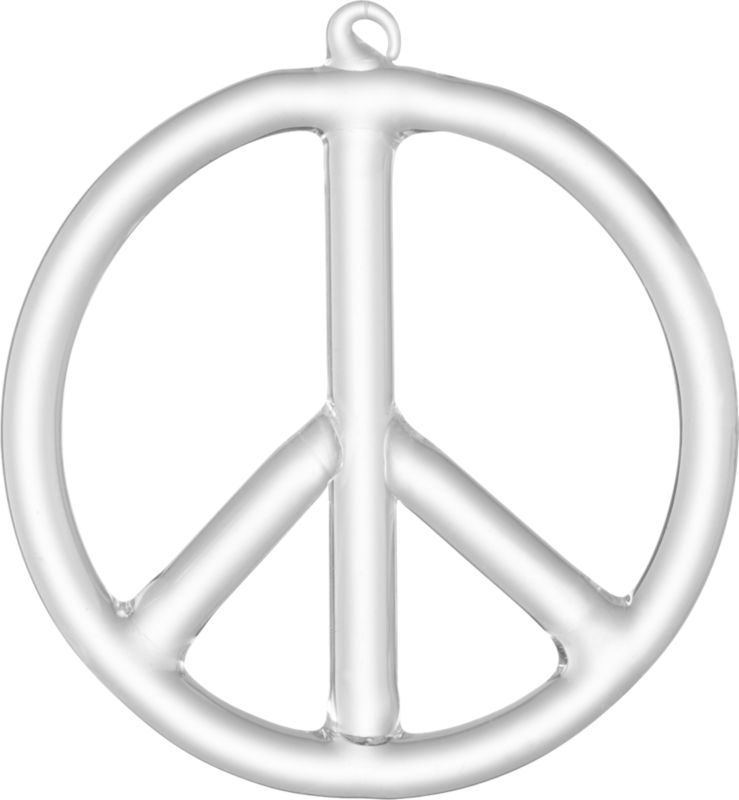 beaker glass peace sign ornament