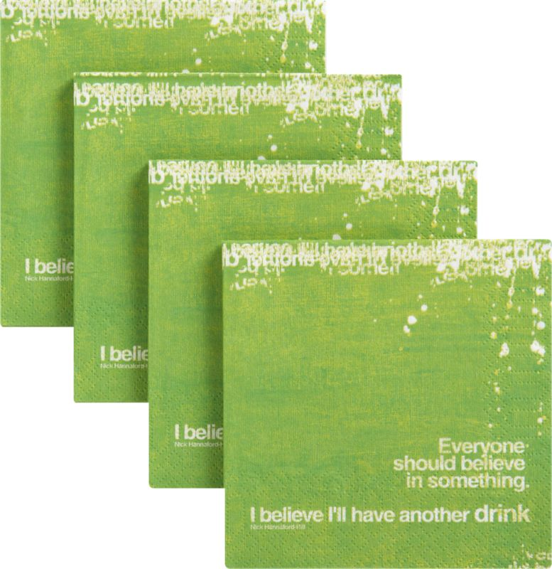 set of 20 believe napkins