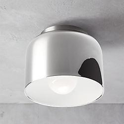 bell chrome flush mount lamp