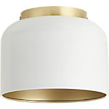 bell white flush mount lamp