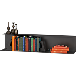 bent metal black wall shelf