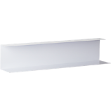 bent metal white wall shelf