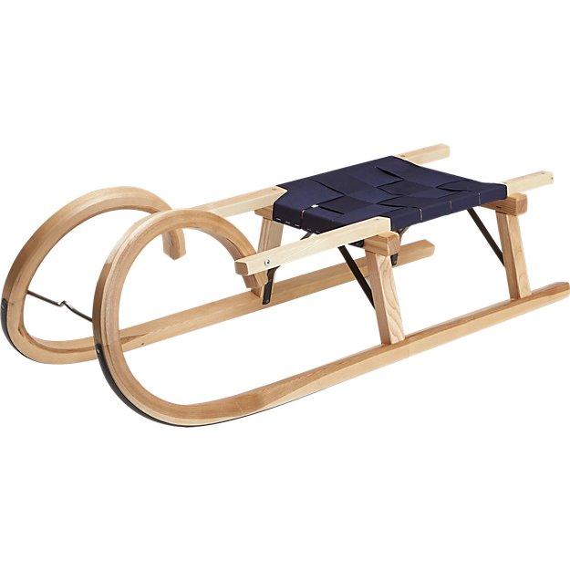 bent wood sled