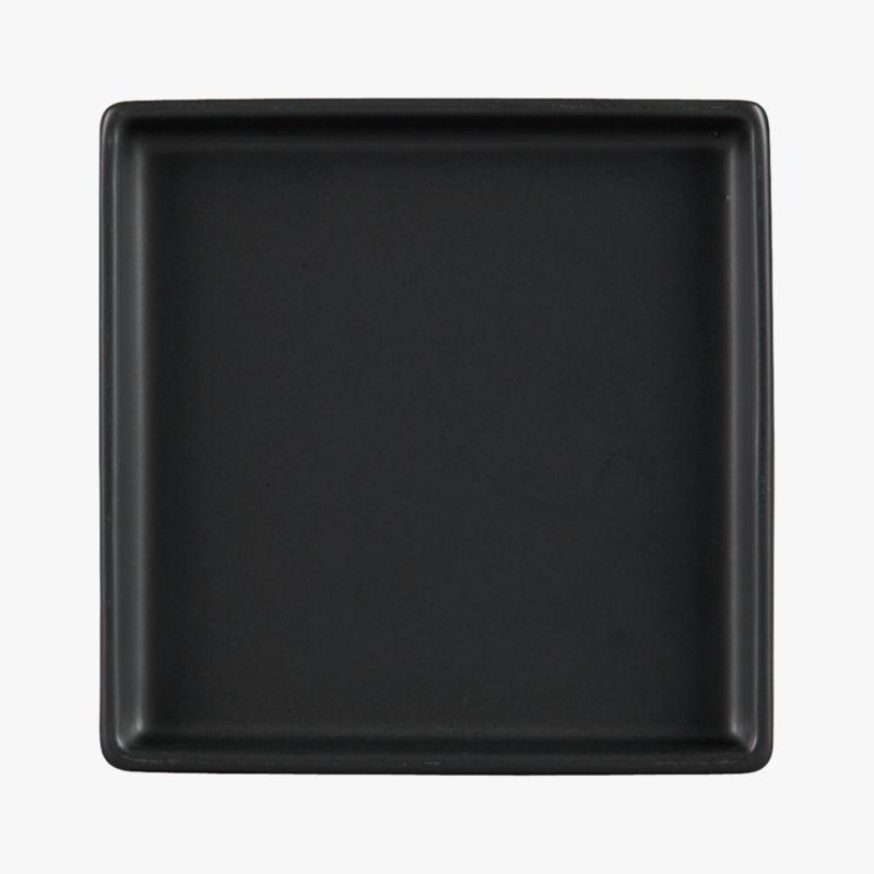 bento matte black appetizer plate