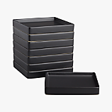 set of 8 bento matte black appetizer plates