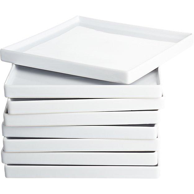 set of 8 bento dinner plates